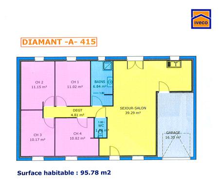 Plan Maison  Chambres Finest Plan Maison Bois De Plain Pied M With