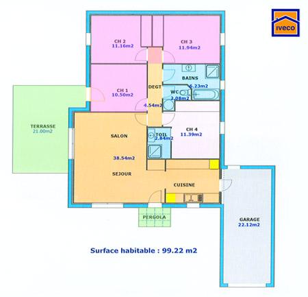 D coration de la maison plan de construction maison 4 for Construction maison 4 chambres